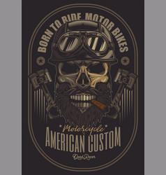 Skull biker 04 vector