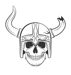 skull viking vector image