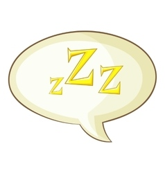 Snoring icon cartoon style vector