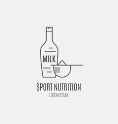 sport nutrition vector image