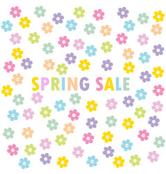 spring sale concept with flowers vector image
