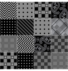 Square patchwork pattern vector image