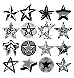 stars set vector image