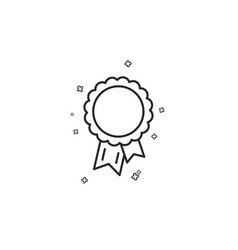 success line icon winner medal sign vector image