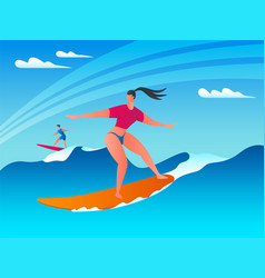 surf wave concept 02 vector image