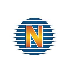 Technology letter n vector