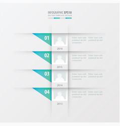 timeline design template blue gradient color vector image