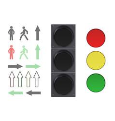 Traffic lights elements vector