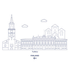 Turku city skyline vector