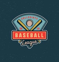 Vintage baseball logo retro styled sport emblem vector