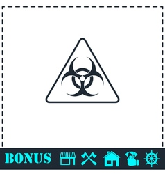 Virus icon flat vector