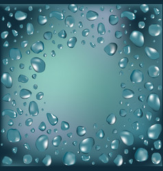 water frame with water drops vector image