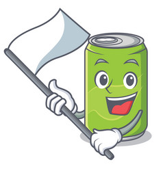 with flag soft drink character cartoon vector image