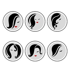 Woman hair pics 3 vector