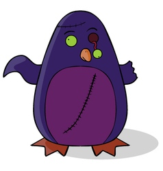 Zombie penguin cartoon vector
