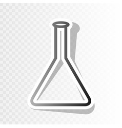 conical flask sign new year blackish icon vector image