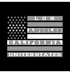 Los Angeles California shirt fashion vector image