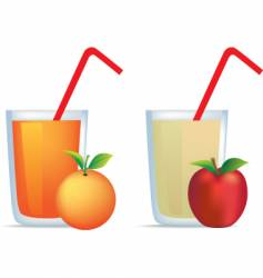 orange and apple juice vector image vector image
