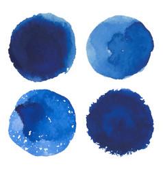 set of watercolor blue spot banner vector image