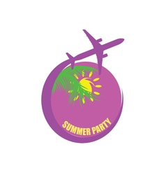 travel with summer party color vector image