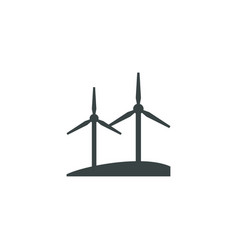 windmill icon simple vector image