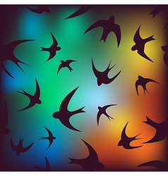 Background with swallow vector