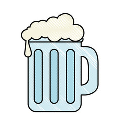beer jar isolated icon vector image