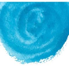 blue watercolor circle vector image vector image