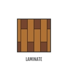 Flat icon of laminate Finishing materials floor vector image