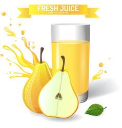Fresh juice background vector image
