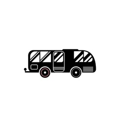Residential camper icon simple style vector image