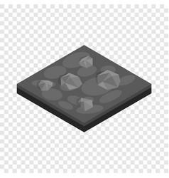 Stones landscape isometric icon vector
