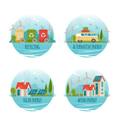ecology alternative energy green technology vector image