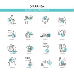 medical icons diarrhea vector image vector image