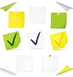 Note Papers vector image