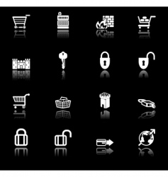 security icon set vector image vector image