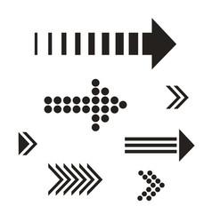 set black arrows vector image vector image