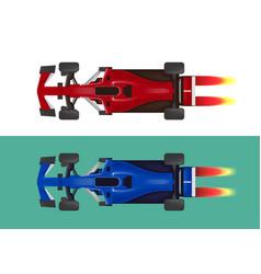 set of racing cars formula 1 vector image vector image