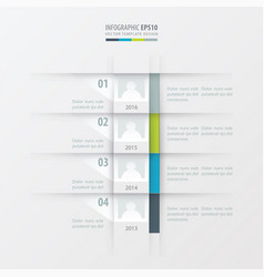 timeline report design template green blue gray vector image
