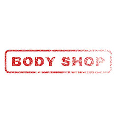 Body shop rubber stamp vector