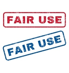 Fair use rubber stamps vector