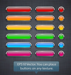 Glossy high-detailed buttons vector image vector image