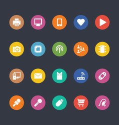 Glyphs colored icons 1 vector