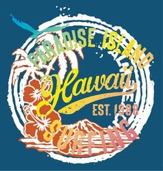 Hawaii the paradise islands vector