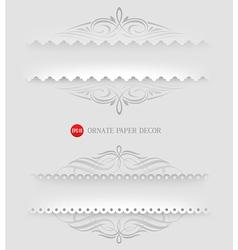 Ornamental decorative paper frames vector image vector image
