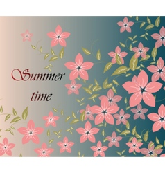 Spring Summer background with flowers vector image vector image
