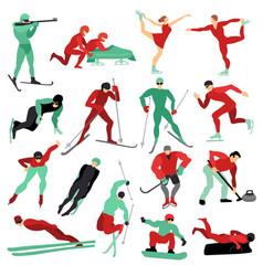 winter sports set vector image