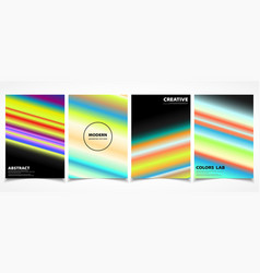 abstract colorful line trendy brochure cover vector image