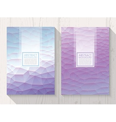 Abstract polygonal with square text lavender vector
