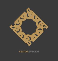 abstract rhomb emblem vector image